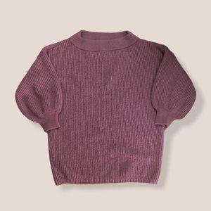 Express Dusty Rose Short Sleeve Sweater Medium